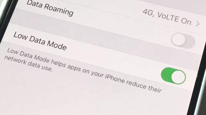 تقليل استهلاك بيانات الهاتف علي IOS 13