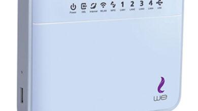 طريقة تسجيل الدخول وتغيير الباسورد لإصدارات راوتر شركة WE