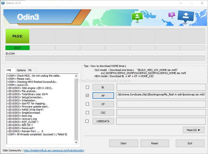 عمل روت لهاتف جالاكسي S9 وS9+ ونوت 9 باستخدام Extreme Syndicate (2)