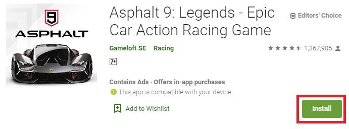 تحميل لعبة Asphalt 9 علي الاندرويد برابط مباشر
