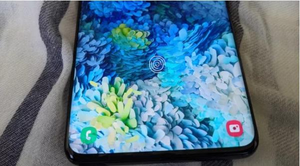 طريقة اضافة بصمة الاصبع في هاتف Samsung Galaxy S20