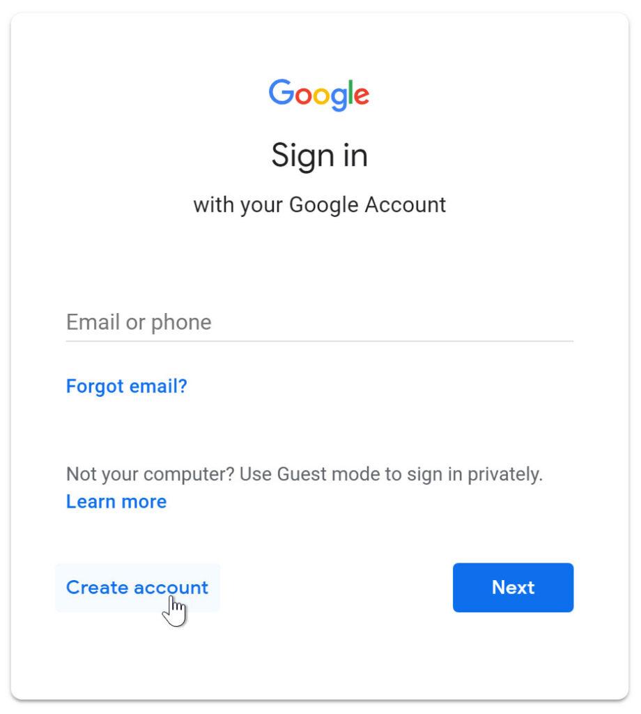 كيفية عمل حساب على جيميل Gmail بدون رقم الهاتف