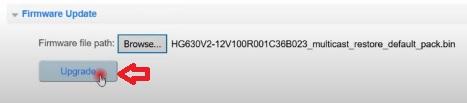 سوفت وير راوتر وي الجديد HG630 V2
